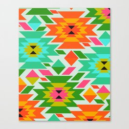 Ethnic with a tropical summer vibe Canvas Print