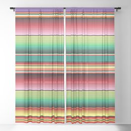 Mexican Textile Fabric Pattern  Sheer Curtain