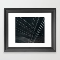 High Voltage Intersection Framed Art Print