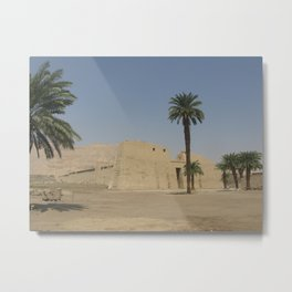 Temple of Medinet Habu, no.1 Metal Print