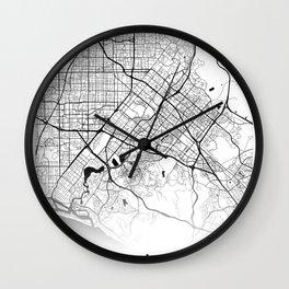 Map of the City Neck Gaiter Irvine California Map Neck Gator Wall Clock