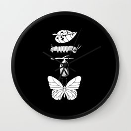 Monarch Butterfly Life Cycle Evolution Wall Clock