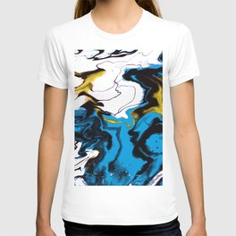 Dreamscape 01 in Blue, White & Gold T-shirt