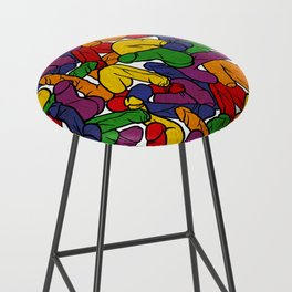 Schlong Song in Rainbow, All the Penis! Bar Stool
