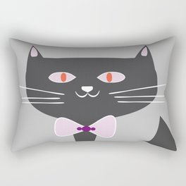 cool black cat Rectangular Pillow