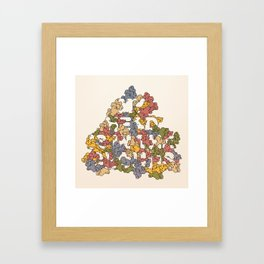 My Head Is In The Clouds #1 Framed Art Print