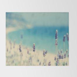 beach - lavender blues Throw Blanket