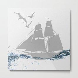 Pirates of the Paper Metal Print