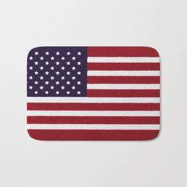 "Stars & Stripes flag, painterly ""old glory"" Bath Mat"