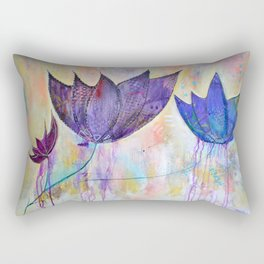 Just do you, trio of abstract lotus flowers Rectangular Pillow