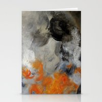 imagerybydianna Stationery Cards featuring empty hurricane fires by Imagery by dianna