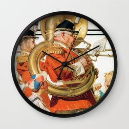 Joseph Christian Leyendecker - Brass Band - Digital Remastered Edition Wall Clock