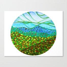 Asheville Sky Mountains Canvas Print