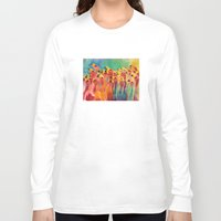 flamingos Long Sleeve T-shirts featuring Flamingos by takmaj