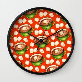 Hot Cocoa Pattern Wall Clock