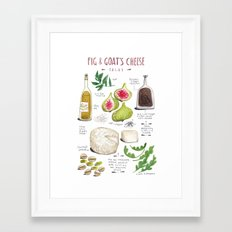 illustrated recipes: fig and goat's cheese salad Framed Art Print