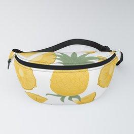 Pineapple hand drawn seamless pattern.  Fanny Pack