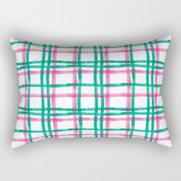 Stripy Lines Hand painted Watercolor Classic Xmas Winter Pattern Rectangular Pillow