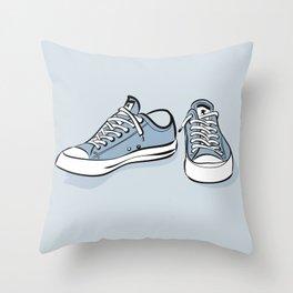 Grey Sneakers Throw Pillow