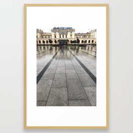 Rainstorms and Train Stations Framed Art Print