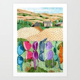 The Cardrona Bra Fence Art Print
