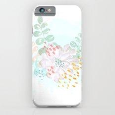 Paint splatter flower iPhone 6s Slim Case