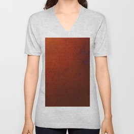 Textured Bronze - Abstract painting Unisex V-Neck