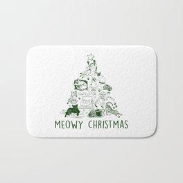 Meowy Christmas Cat Tree Bath Mat