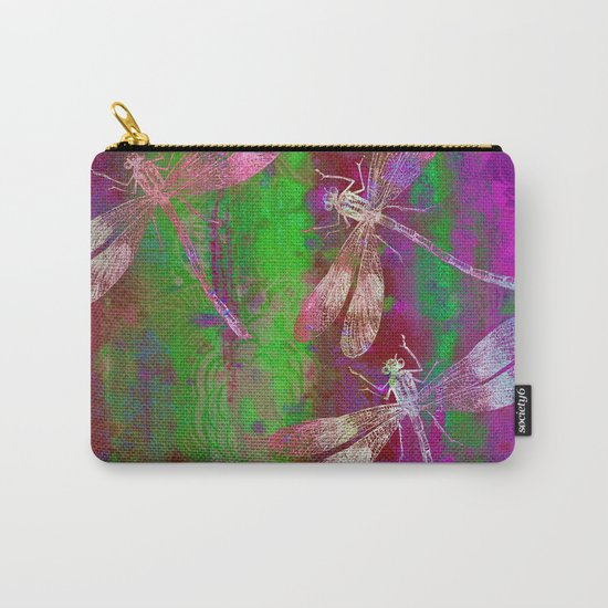 A Dragonflies QR Carry-All Pouch