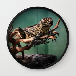 Languid Lizard Wall Clock