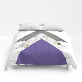 Ultra Violet Blossoms Arrows Comforters