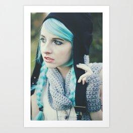 Aviator's girlfriend 1 Art Print