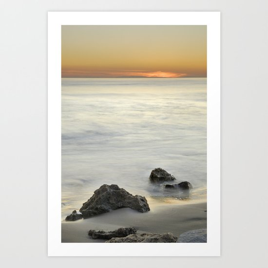 Mediterranean sunset Art Print