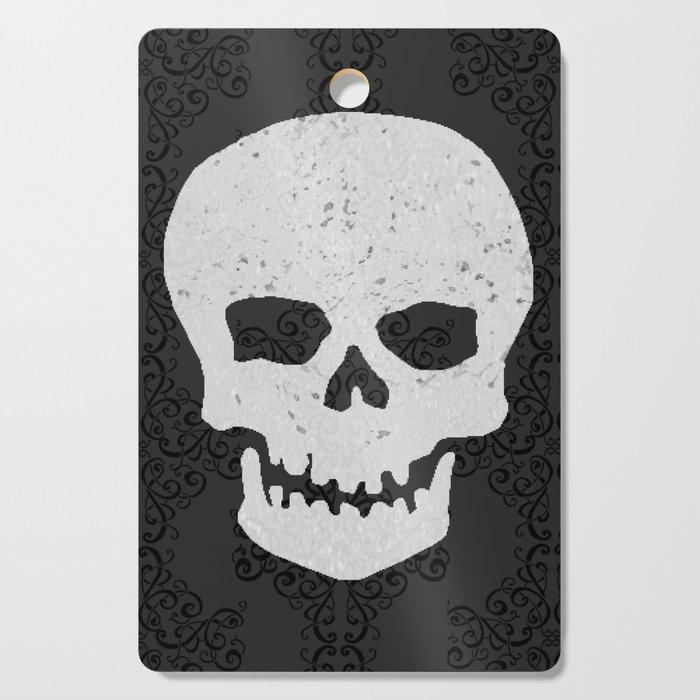 Vintage Sparkle Skull Cutting Board