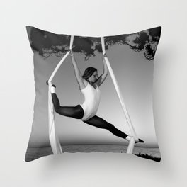Untitled Aerial Silks 2 Throw Pillow