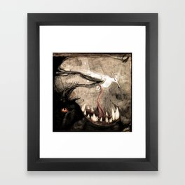 Black to white Framed Art Print