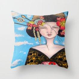 Geisha Girl #4 Throw Pillow