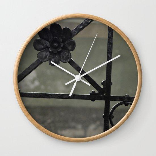 Fence Wall Clock