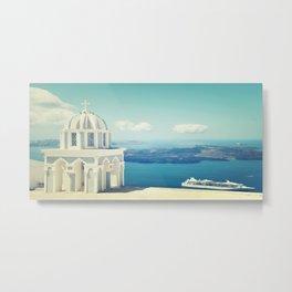 Peaceful Paradise aka Santorini Metal Print