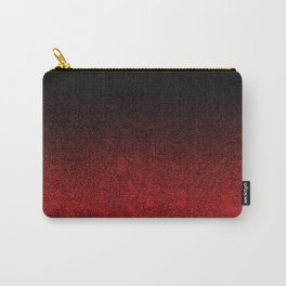 Red & Black Glitter Gradient Carry-All Pouch