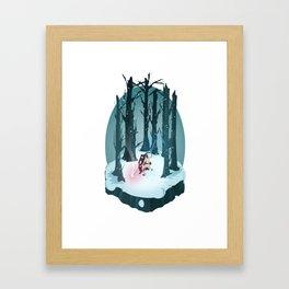 Rey vs. Kylo Ren Isometric Poster Framed Art Print
