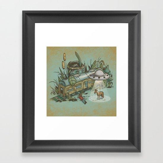 Stolen Horse Framed Art Print