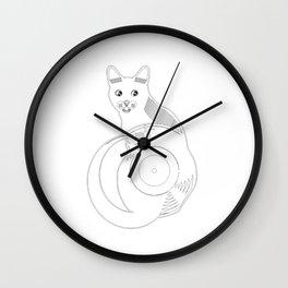 Cat Record Wall Clock
