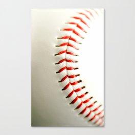 Base Ball Close Up Canvas Print