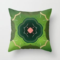 Vintage Tiles Green Throw Pillow