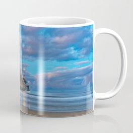Dawn Long Exposure at Newport Pier Coffee Mug