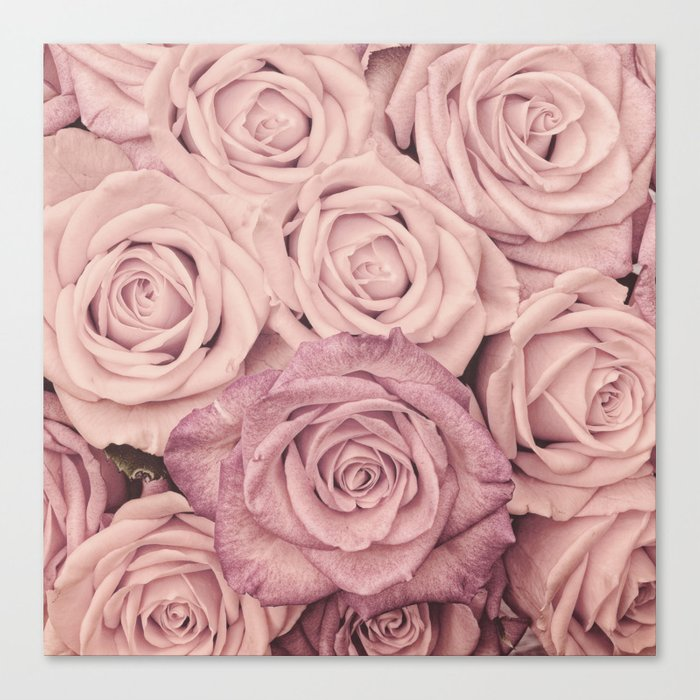 Some People Grumble - Pink Rose Pattern - Roses Canvas Print