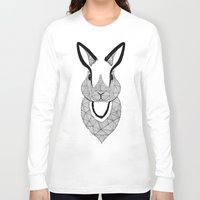 rabbit Long Sleeve T-shirts featuring Rabbit by Art & Be