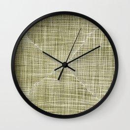 Ink Weaves: Citrine Wall Clock