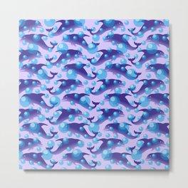 Dolphins under water #society6 #decor #buyart #artprint Metal Print